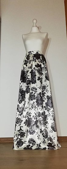 Sukne - Dlhá slávnostná sukňa - 10680095_