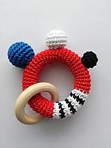 Hračky - Červená hrkálka - 10680561_