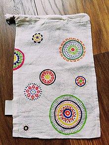 Taštičky - Mandala taška na desiatu, vlasové doplnky a pod. - 10682669_