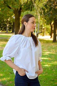 Tričká - Biela blúzka – nezdobená - 10681335_
