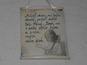 Drobnosti - Hlinená cedulka - 10681369_