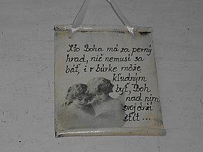 Drobnosti - Hlinená cedulka - 10681374_