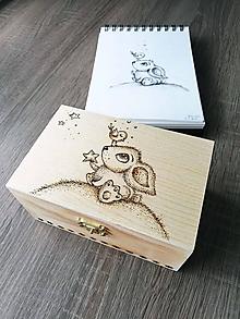 Krabičky - Box z prírodného dreva - Daruj svetlo - 10681465_