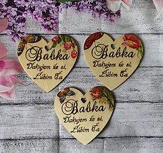 Dekorácie - Srdce babke - 10682998_