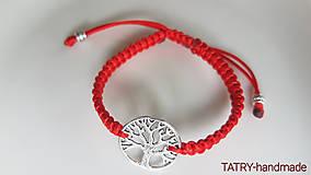 Náramky - Saténové náramky - strom života - 10680223_