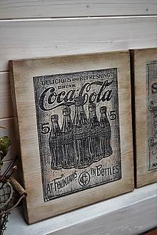 Tabuľky - Staré reklamné tabuľky (Coca Cola) - 10682377_