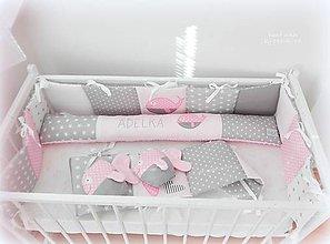 Textil - Kolekcia Rybka /mantinel/podlhovastý vankúš/rybky 2ks - 10685775_