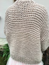 Svetre/Pulóvre - Romantic cardigan-beige,premium akryl - 10684512_
