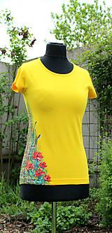 Tričká - Ručne maľované tričko - Abstract art II. - 10686500_