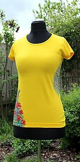 Tričká - Ručne maľované tričko - Abstract art II. - 10686502_