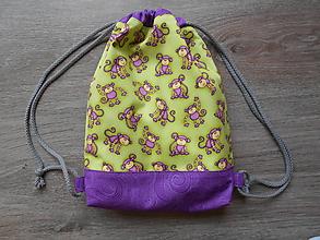 """Detské tašky - Batôžtek pre škôlkarku """"opičky"""" - 10685630_"""