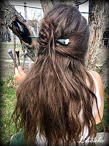 Ozdoby do vlasov - ♥Ihlice do vlasov s minerálmi♥ - 10683869_