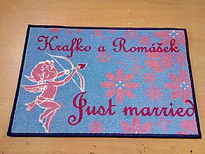 Úžitkový textil - Rohožka │ vchodové │ interiér │novomanželská - 10683533_