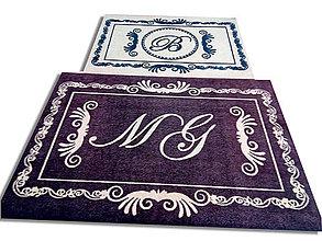 Úžitkový textil - Rohožka │ vchodová│ interiér │s veľkým písmenom - 10683786_