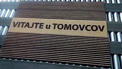 Úžitkový textil - Rohožka │ vchodová│ interiér │ s pásikmi a priezviskom - 10683970_