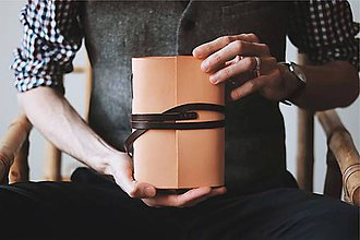 Papiernictvo - Kožený zápisník - Grenfell - 10684353_