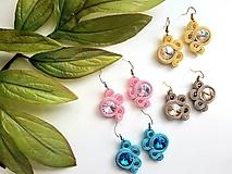 Náušnice - Farebné náušnice na jar - soutache earring - 10685324_