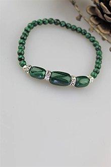 Náramky - malachit náramok (prírodný malachit) - 10685703_