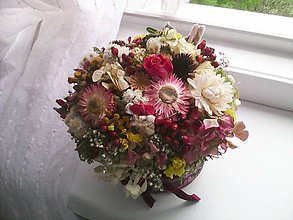 Dekorácie - Kvetinová krabička ...mäkkosť pocitu ... - 10686459_