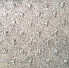 Textil - sivá minky s hviezdičkami, šírka 150 cm - 10683899_