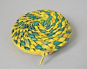 Peňaženky - Púzdro z palmových listov, zelená peňaženka - 10685895_