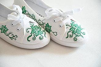 Obuv - Ručne maľované tenisky - 10685897_