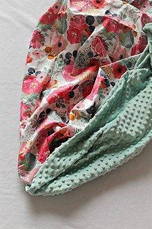 Textil - Minky deka Sukulenty - 9 farieb na výber, 100x70cm - 10684887_