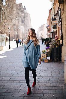 Šaty - Steel šaty na dojčenie s efektným zapínaním - 10684847_
