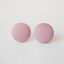 Náušnice - Náušnice ružové - 10683951_