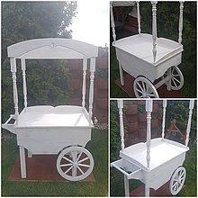 Nábytok - Candy bar, svadobny vozik - 10684585_
