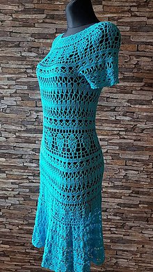 Šaty - háčkované šaty - 10683308_