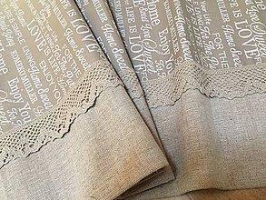 Úžitkový textil - Sweet home - ľanový s čipkou - 10684542_