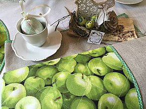 Úžitkový textil - Green apple - obrus - 10684790_