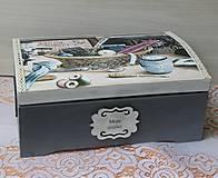 Krabičky - krásna veľká masívna krabica na šitie - 10684345_