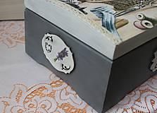 Krabičky - krásna veľká masívna krabica na šitie - 10684346_