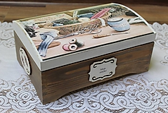 Krabičky - krásna veľká masívna krabica na šitie - 10684380_