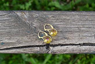 Náušnice - Perleťový krištáľ pozlátené Ag náušnice - 10683233_