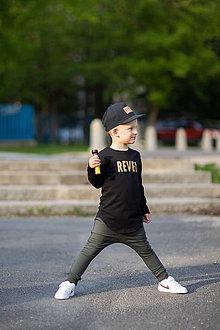 Detské oblečenie - Predĺžené tričko čierne - RVL - 10683741_