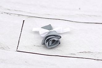 Pierka - Pierko šedé ruža - 10684746_