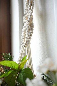 Dekorácie - macramé záves na kvety I. - 10683926_