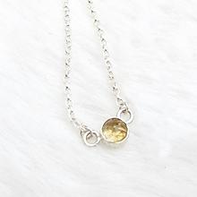 Náhrdelníky - Jednoduchý náhrdelník s citrínem - 10686611_