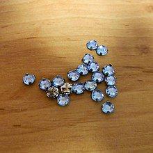 Iný materiál - Štrasové kamienky kruhové 5 mm plastové (svetlomodrá) - 10685717_