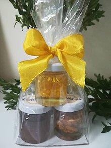 Potraviny - Tri druhy medu v darčekovom balení - 10683488_