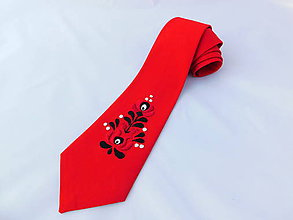 Doplnky - Ručne vyšívaná kravata - 10684093_