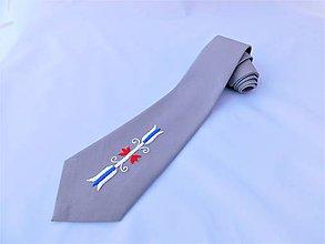 Doplnky - Ručne vyšívaná kravata - 10684134_
