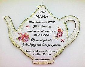 """Drobnosti - Čajník - """"MAMA HOTEL"""" - 10683660_"""