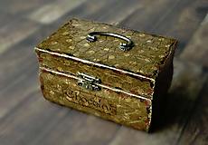 Krabičky - Nežný čokoládkový minikufrík 2/Krabička na darovanie peňazí/Šperkovnica - 10684251_