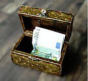 Krabičky - Nežný čokoládkový minikufrík 2/Krabička na darovanie peňazí/Šperkovnica - 10684252_