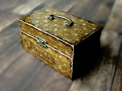 Nežný čokoládkový minikufrík 2/Krabička na darovanie peňazí/Šperkovnica