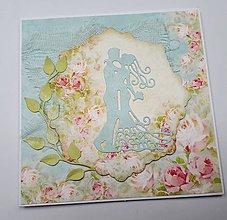 Papiernictvo - Svadobná pohľadnica - 10686331_
